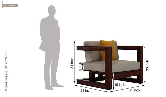 Skyler Woodan Sofa Sets (Mahogany Finish)-9