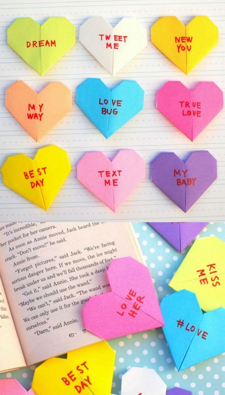 origami-heart-bookmark-tutorial.jpg 5,120×3,697 pixels | Basteln ... | 1288x736