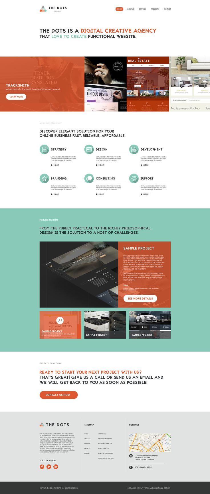 The Dots Website Design Concept