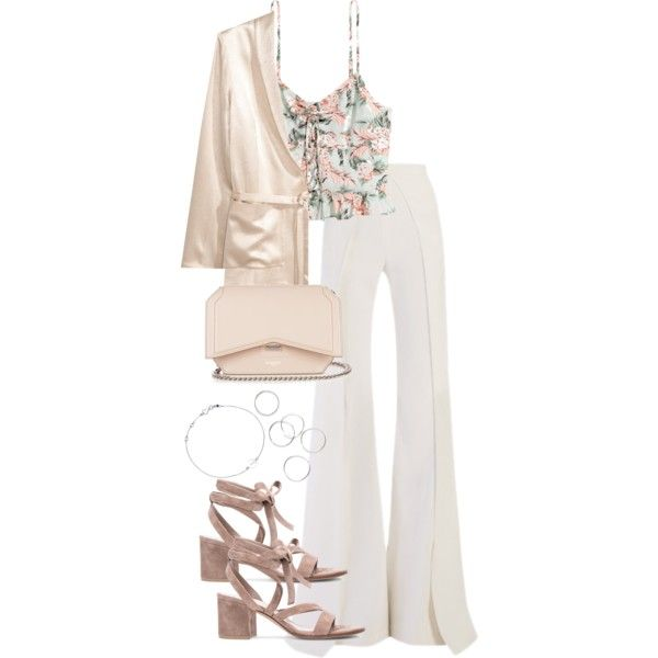 A fashion look from May 2017 featuring Balmain pants, Gianvito Rossi sandals and Givenchy shoulder bags. Browse and shop related looks.