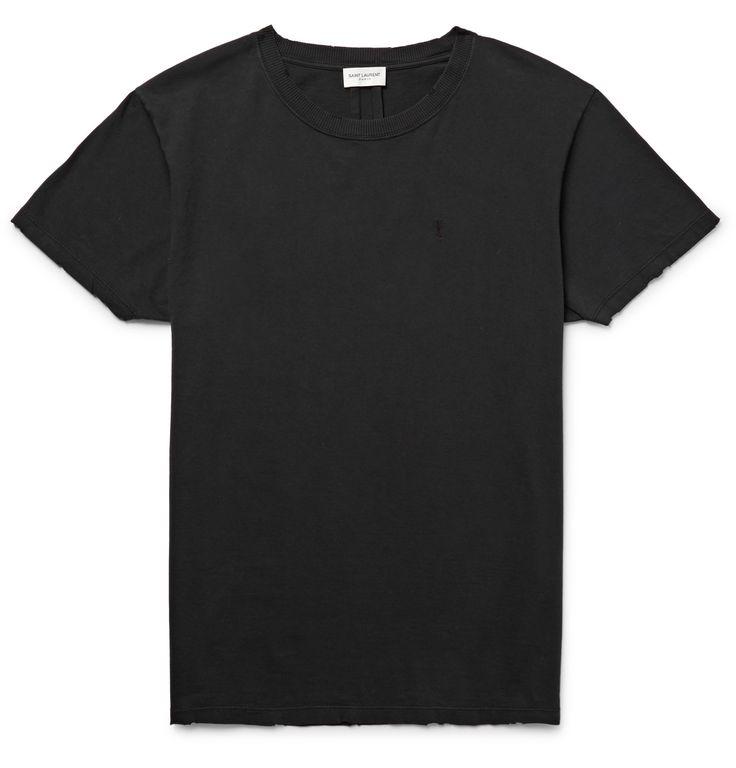 Saint Laurent - Slim-Fit Cotton-Jersey T-Shirt