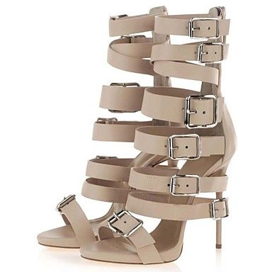 Suede Women's Stiletto Heel Heels Sandals Shoes with Buckle – EUR € 74.24