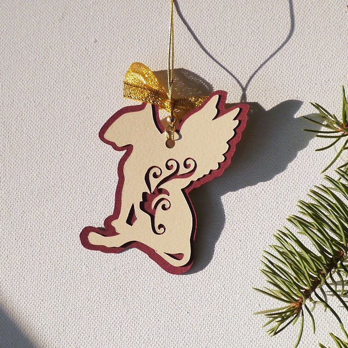 Dog Christmas decoration Bull Terrier Balthazar by PSIAKREW on Etsy
