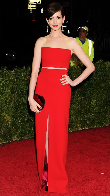 2014 Met Gala Red Carpet - Anne Hathaway from #InStyle