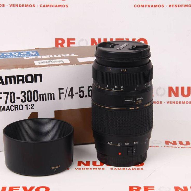 Objetivo TAMRON 70-300mm 1:4-5.6 TELE-MACRO Canon E269337 # Objetivo# de segunda mano# TAMRON