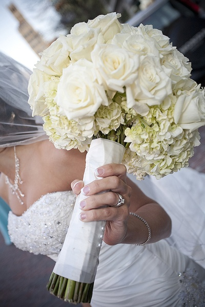 White Roses And Hydrangeas For My Bridal Bouquetinstead Of The