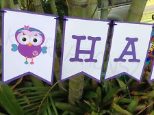 Giggle and & Hoot Hootabelle personalised banners flags bunting birthday party