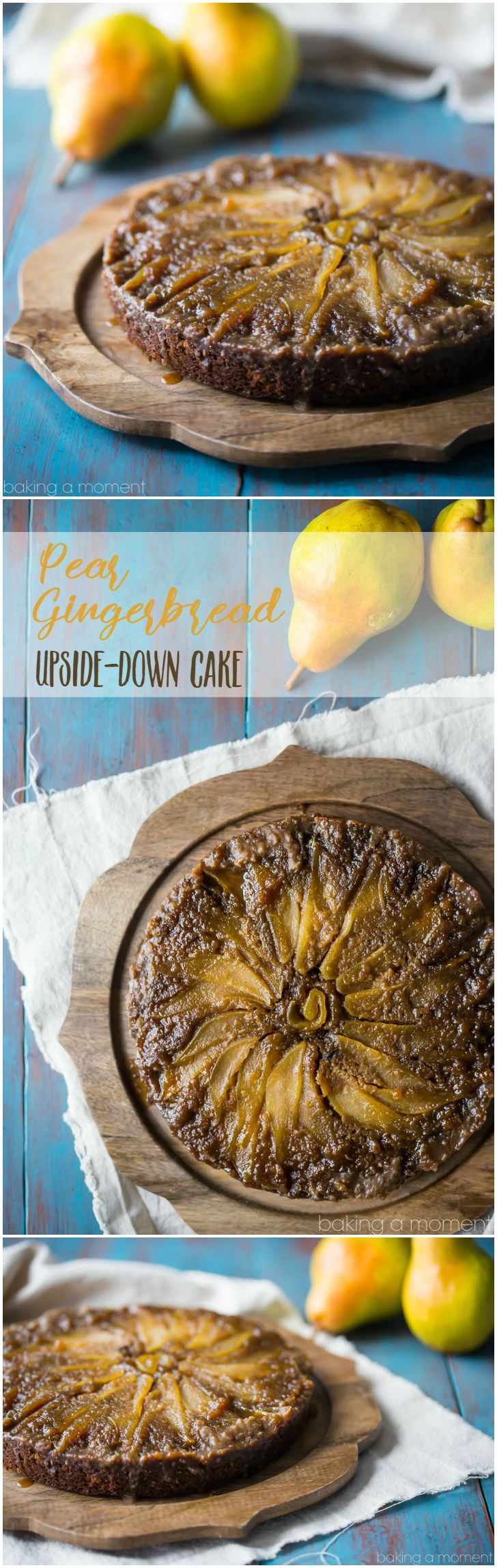 Pear Gingerbread Upside Down Cake- oh my! So many gorgeous flavors going on here. I really loved the way the sweet, brown-sugary pears balanced out the spiciness of the gingerbread. A winner of a winter dessert, for sure! @Southern Living