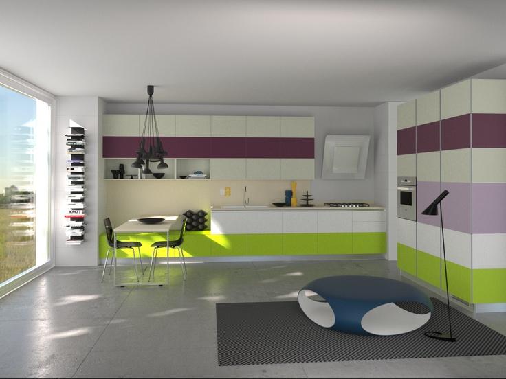 Tetrix by Micheal #Young #Scavolini #kitchen. #Livingroom Colour Kit K24