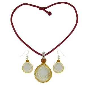 Costume Jewelry Crystal Pendant and Earrings Set Handmade In India (Jewelry)  http://documentaries.me.uk/other.php?p=B007UXF41K  B007UXF41K