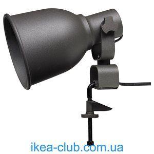 ИКЕА, IKEA, ХЕКТАР, 802.153.08, Настенный софит/лампа с зажимом, темно-серый