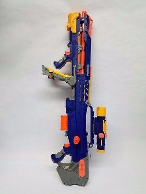 NERF Longshot CS-6 Blaster N-Strike Blue w/ Scope Dart Gun Free Shipping