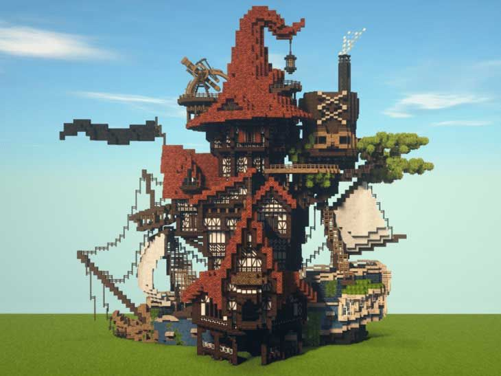 Minecraft Fantasy House in 2020 Minecraft underwater house Minecraft underwater Minecraft castle