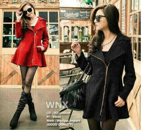 Coat Zipper @67rb Bhn wedges import, seri 2pcs, fit L, ready 4mgg ¤ Order By : BB : 2951A21E CALL : 081234284739 SMS : 082245025275 WA : 089662165803 ¤ Check Collection ¤ FB : Vanice Cloething Twitter : @VaniceCloething Instagram : Vanice Cloe