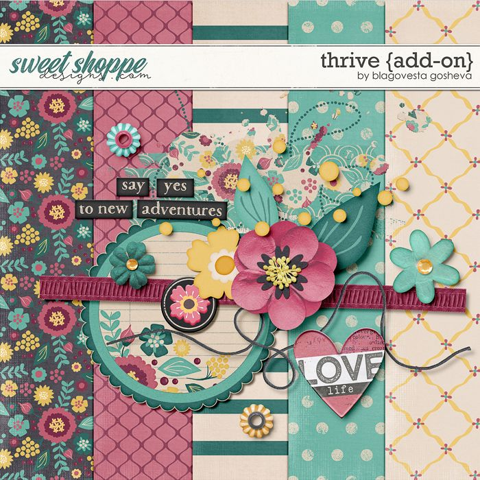 Friday's Guest Freebies ~ Sweet Shoppe Designs ✿ Follow the Free Digital Scrapbook board for daily freebies: https://www.pinterest.com/sherylcsjohnson/free-digital-scrapbook/ ✿ Visit GrannyEnchanted.Com for thousands of digital scrapbook freebies. ✿ Thrive {add-on} by Blagovesta Gosheva
