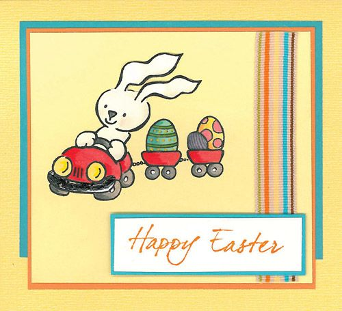 Stamp-it Australia: 4019E Easter Train, 4079D Happy Easter - Card by Susan