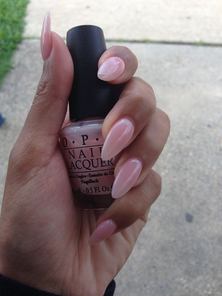 Stiletto pointy nail nude pink by OPI PASSION