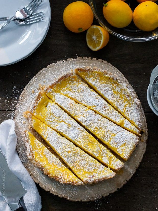 A Meyer lemon tart is an easy way to find sunshine on a winter day. Try this easy recipe!