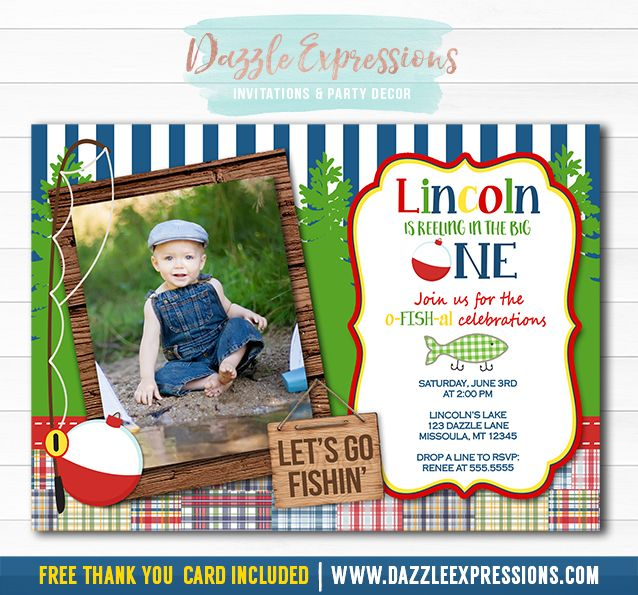 25 best ideas about fishing cupcakes on pinterest fish for Fishing birthday invitations