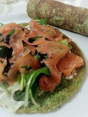 Opskrift på lækker broccoli æggewrap med avokadocreme og laks. En wrap med indhold svarer til 205 kcal og mætter dejligt. Skøn smag.