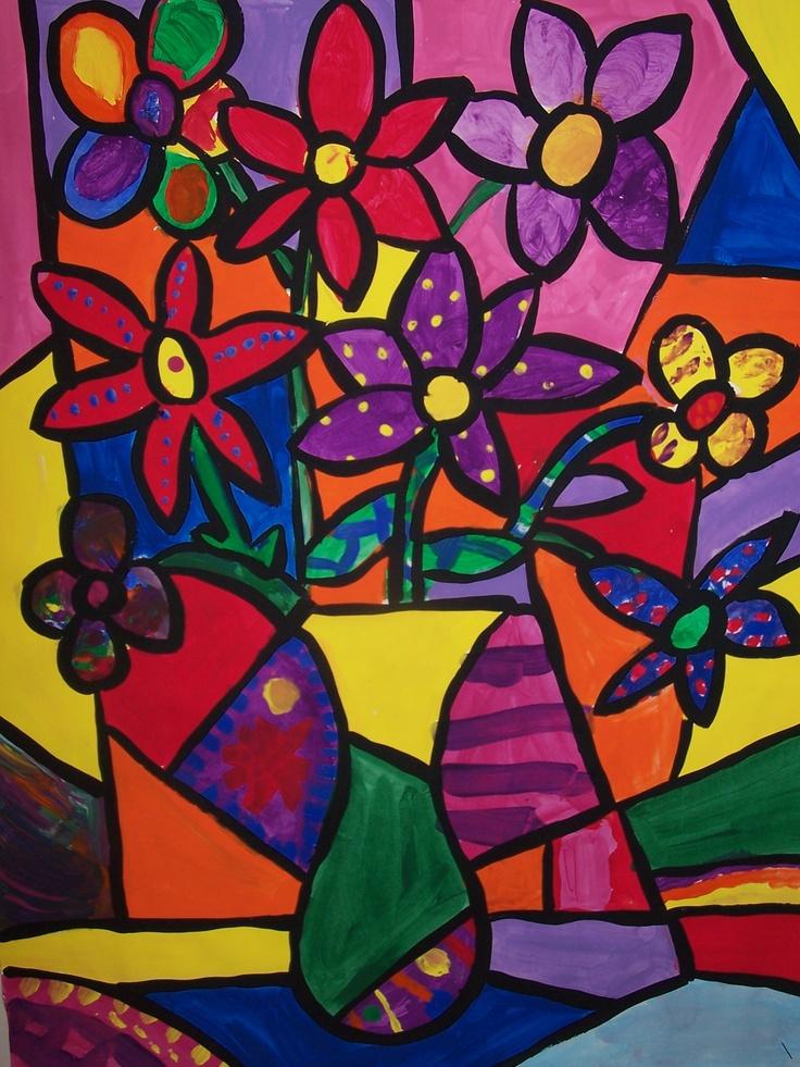 Les 73 meilleures images du tableau arts plastiques cp ce1 sur pinterest arts plastiques - Coloriage fleur britto ...