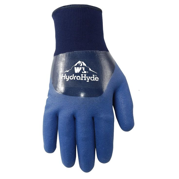 Wells Lamont HydraHyde Dbl Coated Nitrile Mens Gloves Blue L