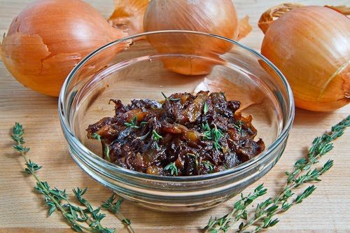 Onion Marmalade. Amazing flavor! Well worth the effort! We used the onion jam for epic grilled cheese sandwiches with white wine mushrooms, smoked gouda and havarti, and white truffle oil