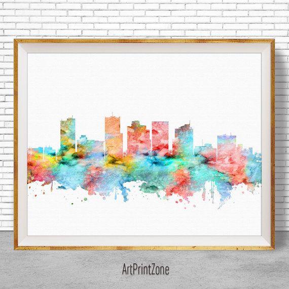 Phoenix Arizona, Phoenix Skyline, Phoenix Print, Office Decor, City Skyline Prints, Skyline Art, Office Wall Art, ArtPrintZone #CitySkylineArt #PhoenixPrint #PhoenixSkyline #OfficeDecoration #ArtPrint