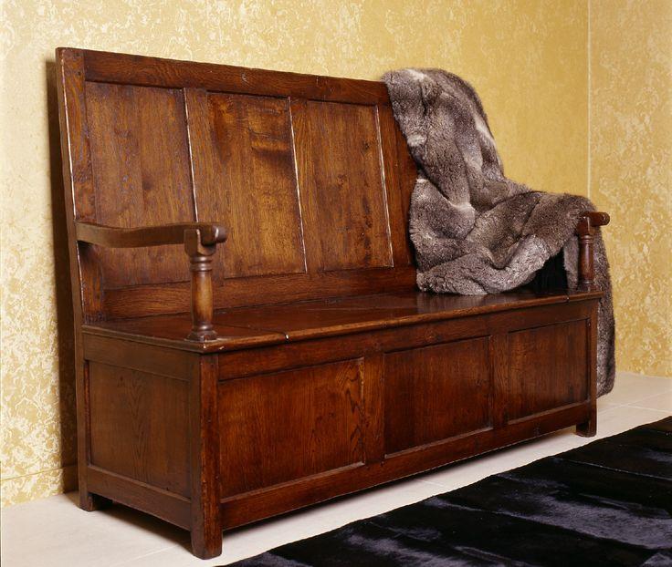 Settle - French oak - Internal Storage