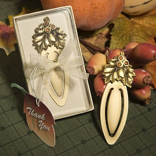 Autumn #Wedding Bookmark Favors: $1.65