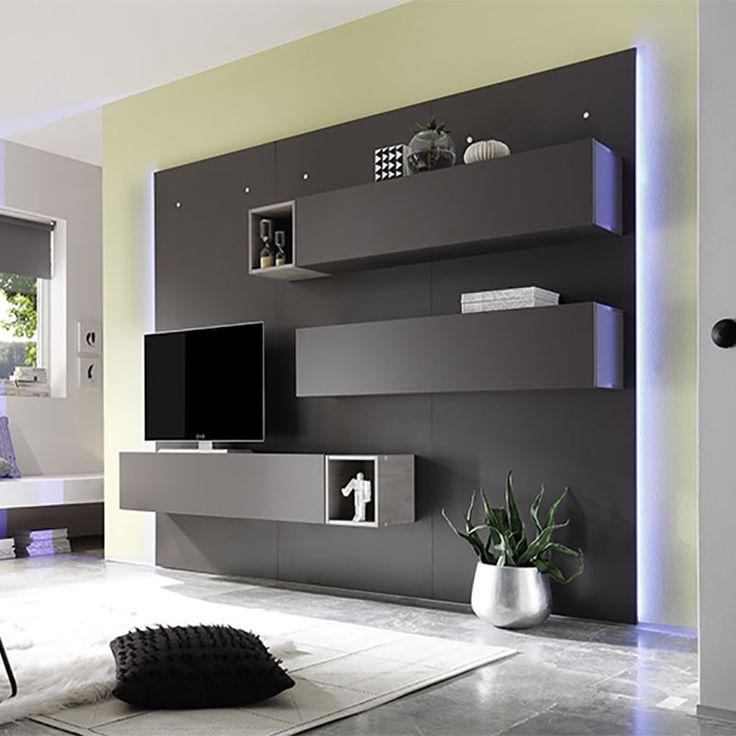 27 best ensemble de meubles tv images on pinterest - Ensemble tv mural laque ...