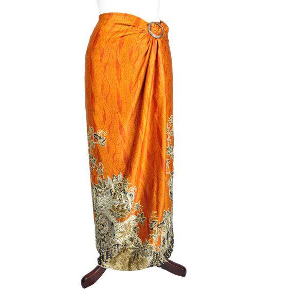 Delilah Silk Sarong Batik by HeritsyShop on Etsy, $39.90