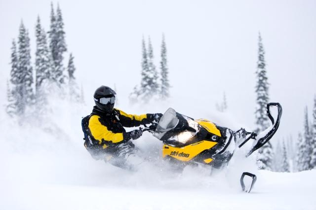 2013 Ski-Doo Summit X in action