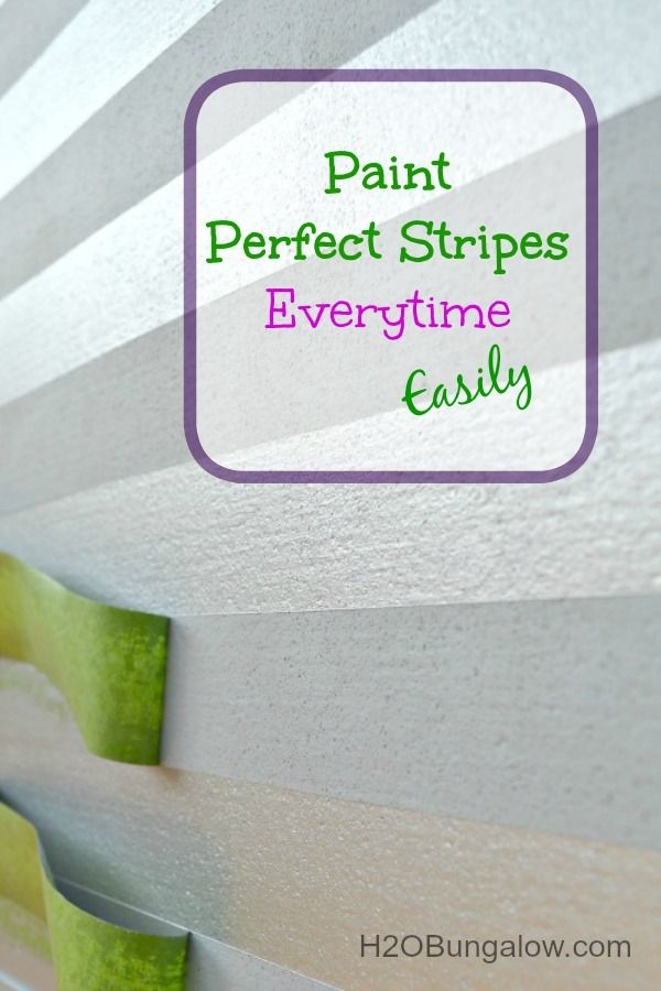 How To Easily Paint Stripes Everytime On Any Flat Surface!  - Such an easy and quick method, you'll want to stripe all kinds of things! www.H2OBungalow.com