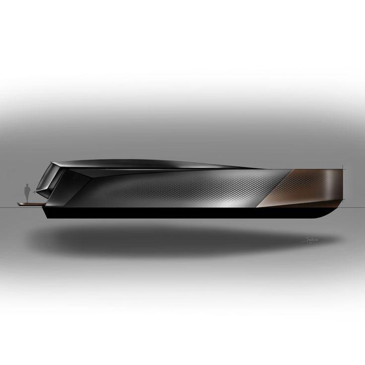 30 meter yacht concept by yacht designer Lorenzo Andrè Spreafico   https://www.behance.net/lorenx