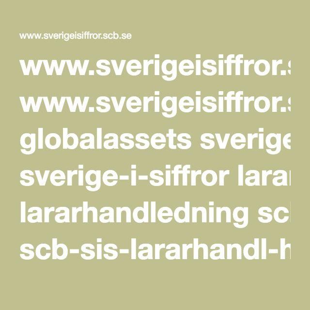 www.sverigeisiffror.scb.se globalassets sverige-i-siffror lararhandledning scb-sis-lararhandl-hogstadiet.pdf