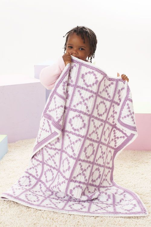 Caron International | Free Project | Hugs and Kisses Blanket