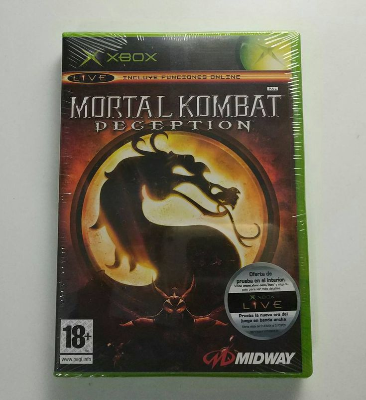 Microsoft XBox: Mortal Kombat Deception (PAL Spanish sealed)  Since I uploaded the pad for PS2 I decided to also upload the game this time for XBox classic.  Never played this one. The chess and puzzle modes didn't seem very appealing and though it featured online fighting I doubt many people got to use it.  Tags:  #retrogaming #retrogames #xbox #XBoxClassic #microsoft #mortalkombat #mortalkombatdeception