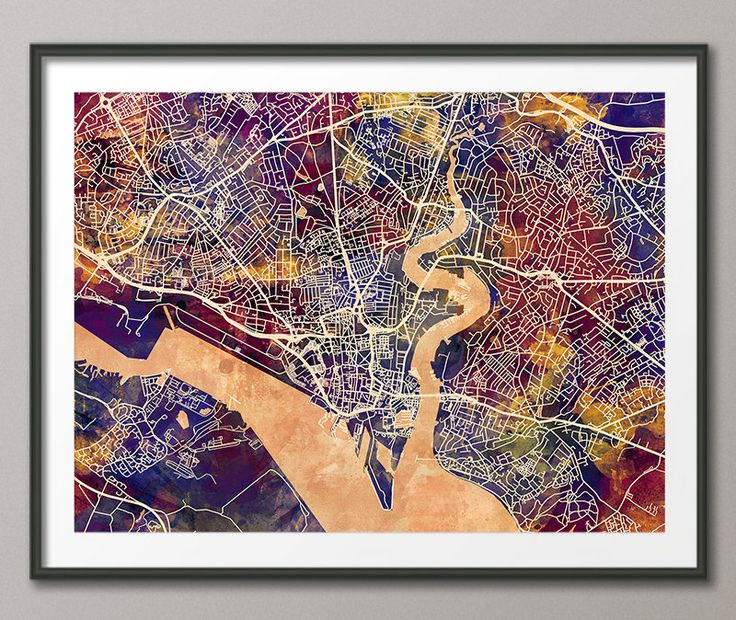 Southampton Map, Southampton Hampshire England City Street Map, Art Print (2792) by artPause on Etsy