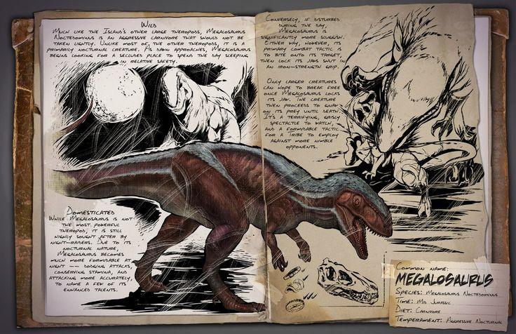 Megalosaurus | Мегалозавр | ARK: Survival Evolved
