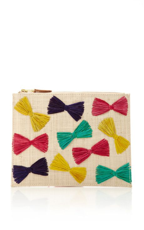 Multicolored Ginny Clutch With Bow Closure by KAYU Now Available on Moda Operandi