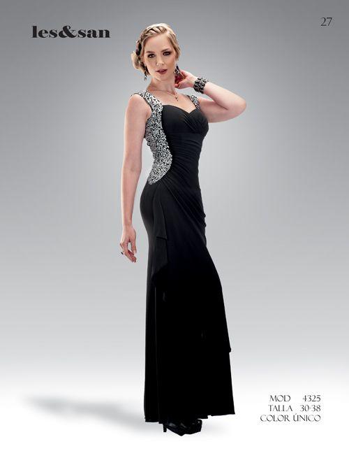 Vestidos color negro con plateado