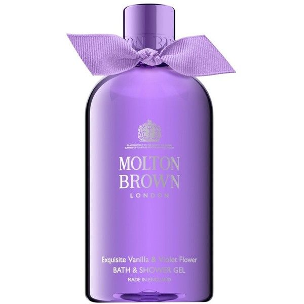 Women's Molton Brown London Bath & Shower Gel found on Polyvore featuring beauty products, bath & body products, body cleansers, exquisite vanilla and violet and molton brown