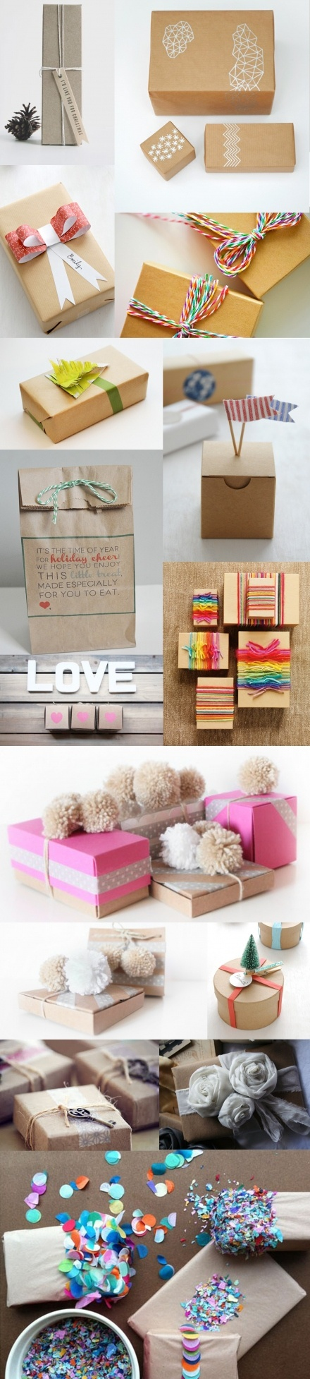 <3 every one of these gift wrap ideas.