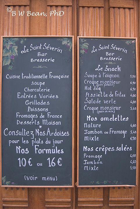 paris-cafe-menu.   French cafe menu, Bistro menu, Cafe menu