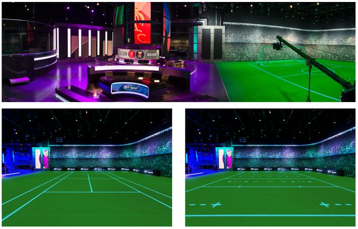 BT Sport Studio London with our innovative ASB MulitSports floor - One floor, a thousand possibilities #glassfloor #sport #design #professional