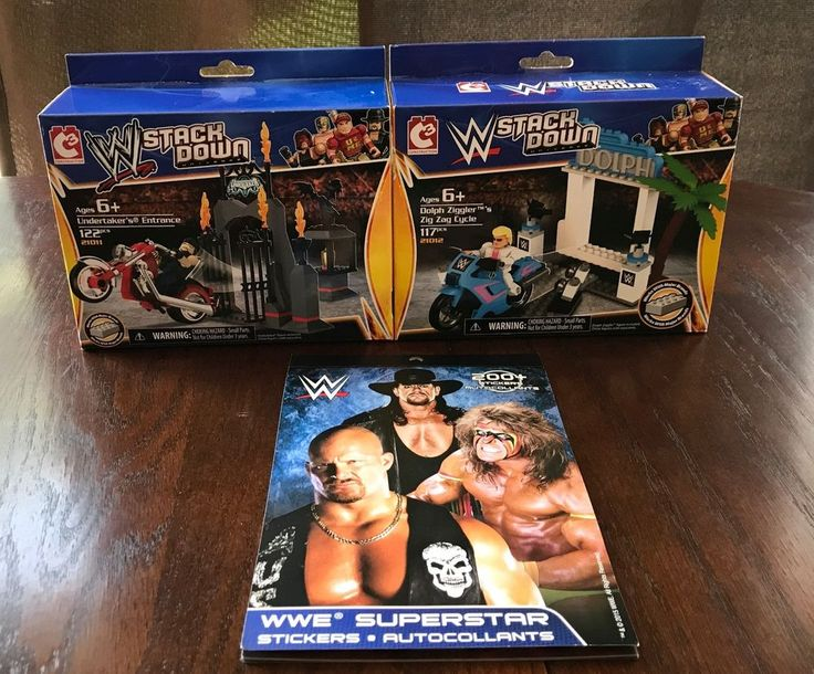WWE StackDown Universe LOT Of 2 Dolph Ziggler & Undertaker 21010 +sticker book #C3Construction