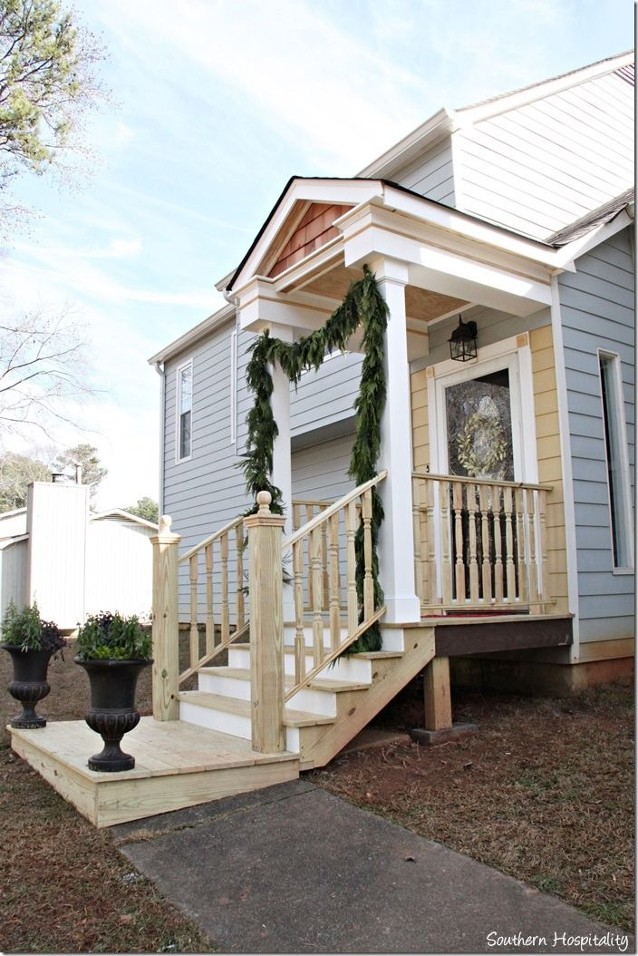 Building a front portico front stoop front porches and for Side porch