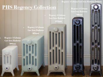 Regency 4 Cast Iron Radiators 360mm