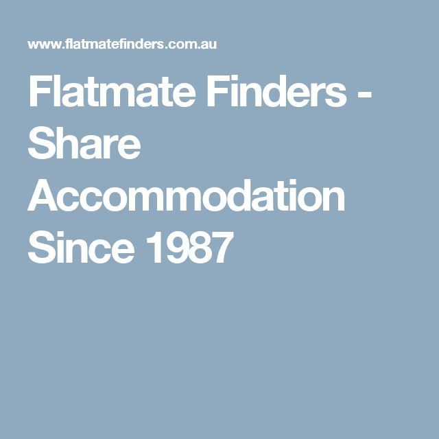 Flatmate Finders - Share Accommodation Since 1987